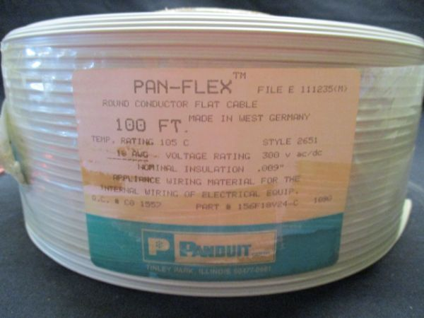 PANDUIT 156F18V24-C ROUND CONDUCTOR FLAT CABLE