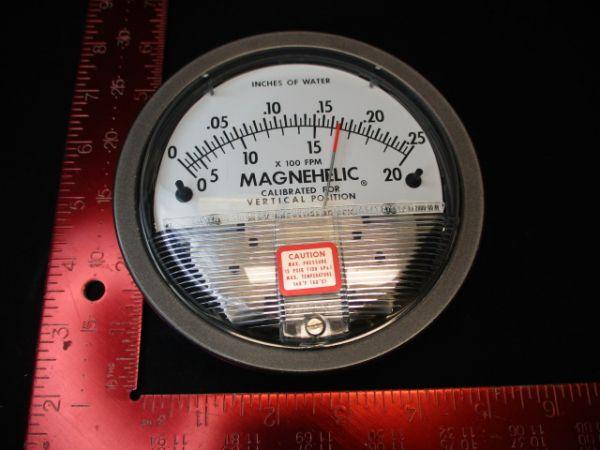 DWYER INSTRUMENTS 2000-00-AV GAUGE, MAGNEHELIC 0-.25IN.