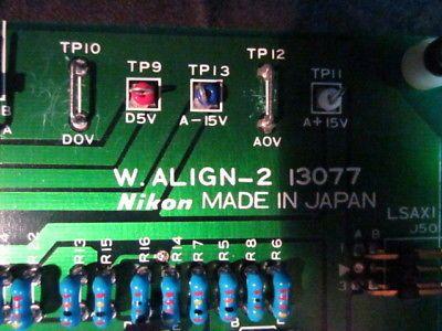 Nikon 13077 PCB - W. ALIGN-2