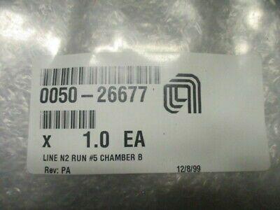 Applied Materials (AMAT) 0050-26677   WELDMETN, LINE N2 RUN #5 CHAMBER B