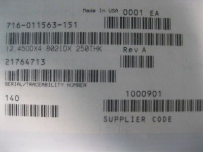 "LAM RESEARCH (LAM) 716-011563-151 METRON 5\"" DOMED W/C12.450 (OD) X 4.802 (ID) X"