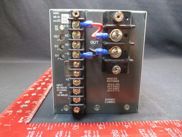 TDK-LAMBDA-PHYSIK-NEMIC HR-12-48 SUPPLY, POWER 48V 3.8A HR-12-48
