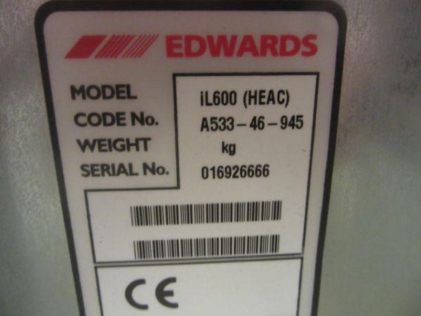 BOC EDWARDS IL600-N EDWARDS DRY PUMP; STD EXCH IL600 NEW LOOK 200-208V 50/60HZ