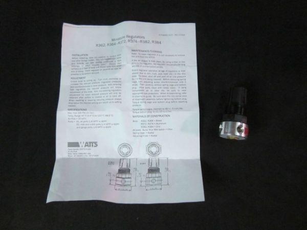 PARKER WATTS R374-01A Miniature Regulator Pressure Range 025 300 PSIG Max Inlet