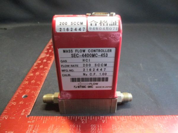 HOREBIA/STEC SEC-4400-HCI-200SCCM FLOW RATE: 200SCCM
