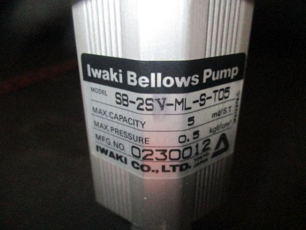 DAI NIPPON SCREEN (DNS) 2-39-31743 IWAKI SB-2SV-ML PUMP, BELLOWS
