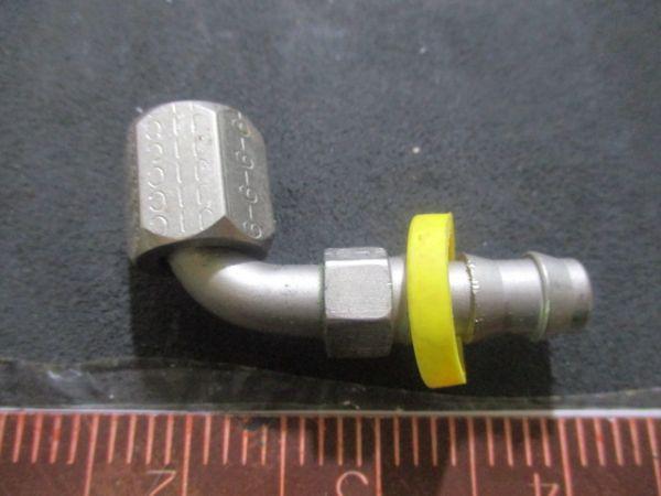 Applied Materials (AMAT) 3300-04822   FTG, HOSE BARB EL 1/4 HX11/16-16 SWVL SEAL