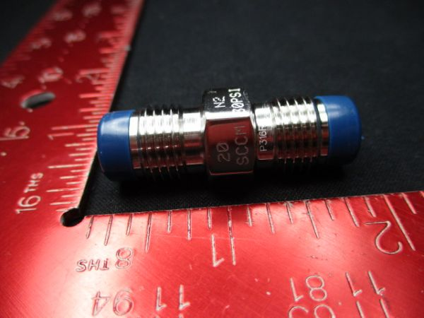 MOTT CORP 5009846H10RA Flow Restrictor, 20 Sccm, N2 30PSI