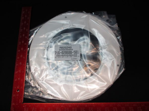 """LAM RESEARCH (LAM) 716-028688-581 COORS CERAMICS CO. CLAMP,WAFER,SHADOW NOSE 8"""""""