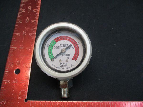 CKD CORPORATION GA400-8-P02 GAUGE, DIFFERENTIAL PRESSURE