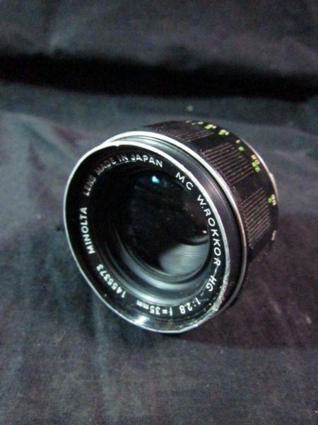 MINOLTA 128 Lens f35mm MC W ROLLOR-HG