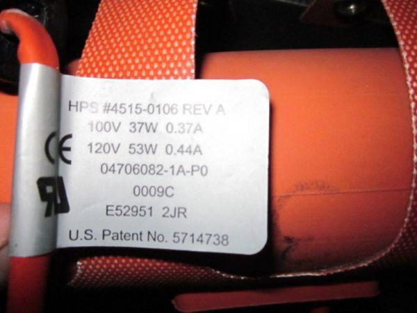 HPS 4515-0106 VACUUM PIPING HEATER