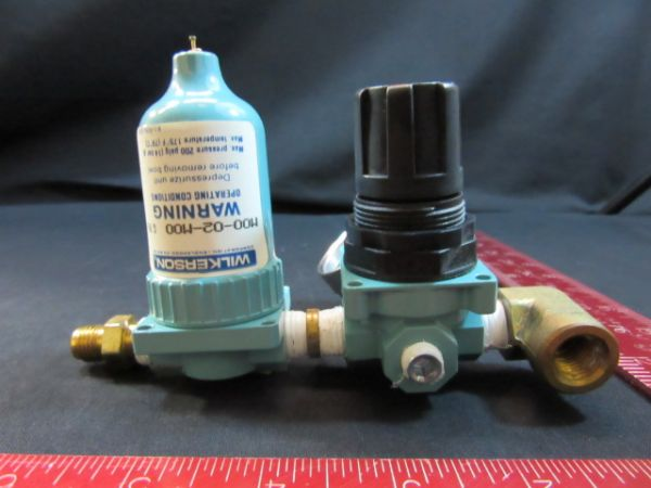 WILKERSON M00-02-M00 PNEUM LUBRICATOR FILTER WITH R00-02-000 REGULATOR & GAUGE