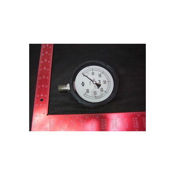 MEGO AFEK 64109 GAUGE PRES.0-600 PSI 4  1/2 NPT SS GLYC