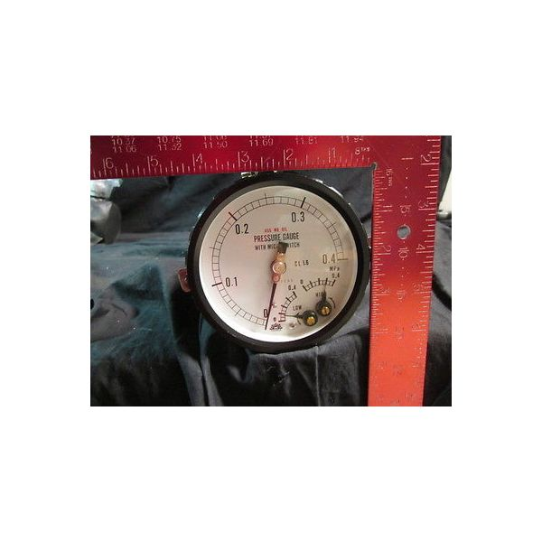 OSAKA 23033000 CL 1.6 PRESSURE GAUGE WITH MICRO SWITCH; 0-0.4MPa
