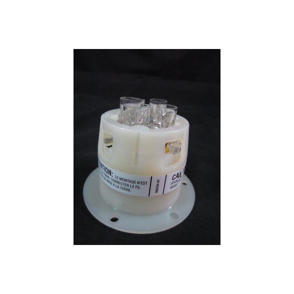 HUBBELL HBL2425 AC Flanged Inlet NEMA L15-20 Male White, 20 AMP, 3 PHASE 250V, 3