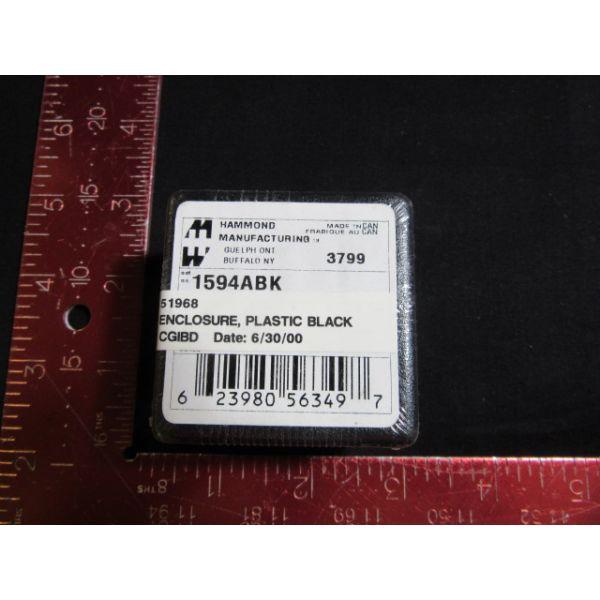 HAMMOND MANUFACTURING 1594ABK New BLACK PLASTIC, ENCLOSURE