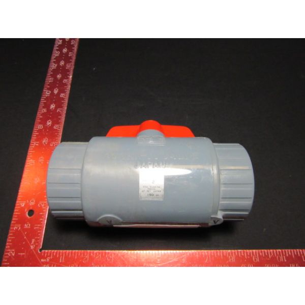 """ASAHI 161071020 PVC THREAD BALL VALVE, TEE, 2"""" PIPE SIZE 50-2 TYPE-C MAX WORKING PRESSURE AT 70°F WATER"""