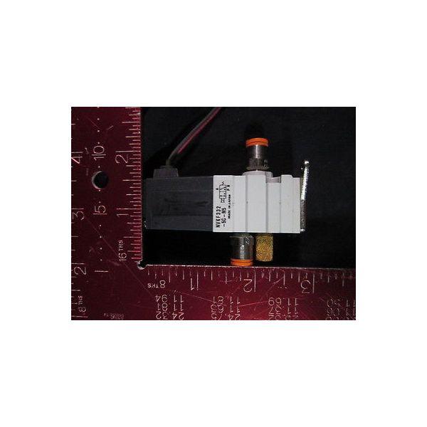 SMC NVKF332-5G-M5 3-Port Solenoid Valve harvested off unused system
