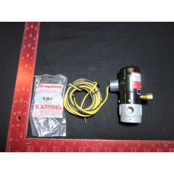 HUMPHREY 250AE1-3-11-21-LL PNEUMATIC VALVE 24V DC 6.7 W 0-125 PSI