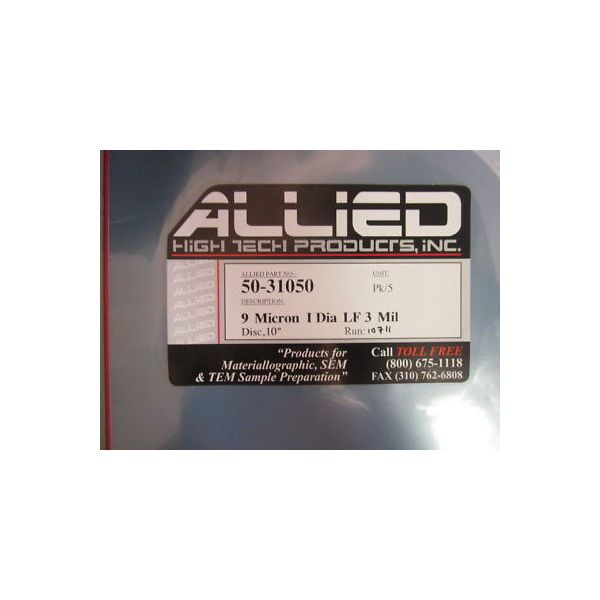 ALLIED HIGH TECH 50-31050 9 MICRON I DIA LF 3 MIL (PACK OF 5)