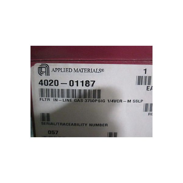 """Applied Materials (AMAT) 4020-01187 Filter In-Line Gas, 3750 PSIG, 1/4\"""" Face Sea"""