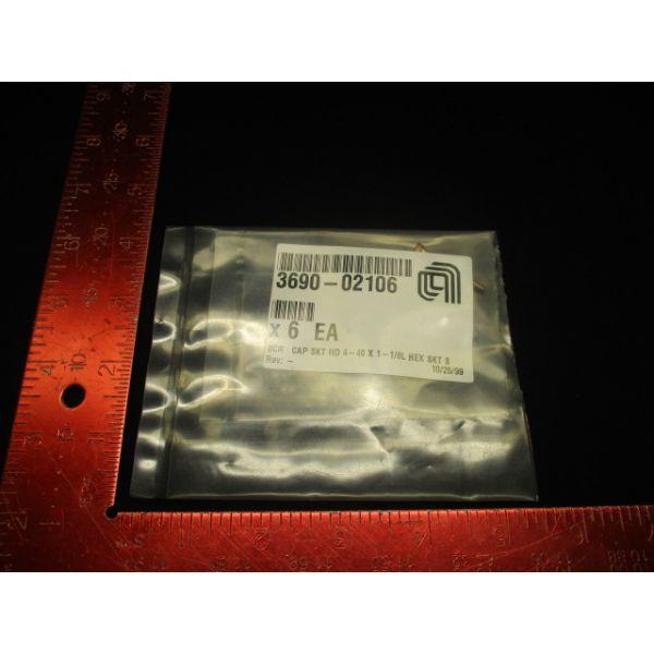 Applied Materials (AMAT) 3690-02106   SCREW CAP SKT HD 4-40 1-1/8L HEX SKT S