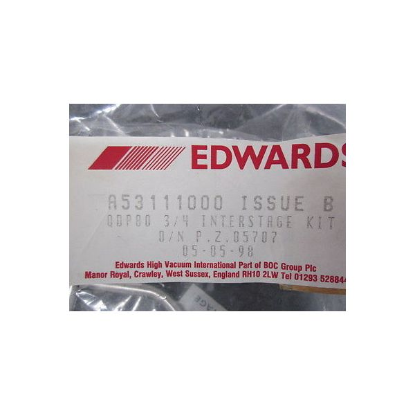 EDWARDS A53111000 QDP80 3/4 INTERSTAGE KIT