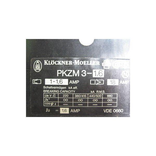 KLOCKNER MOELLER PKZM3-16-02 C.B PKZM3-1.6A