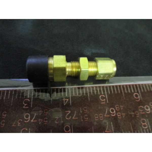 PARKER 4-6FH2BZ-B   FITTINGS, BRASS MALEBULKHEAD CONNECTOR 4