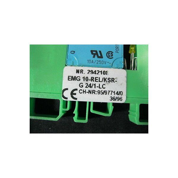 SIEMENS EMG-10-REL-KSR-G-24-1-LC RELAY MINATURE POWER (J-BOX INJECTION FI