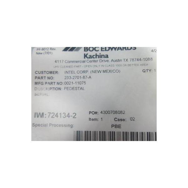 AMAT 0021-11075 101 TTN PEDESTAL, 200MM FLOATING PIN, DE