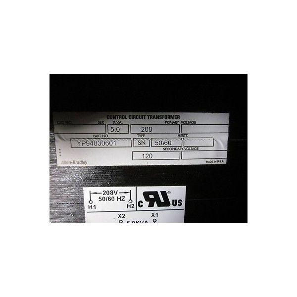 AMAT 1360-00155 5 KVA Control Unit Transformer; 208V-PRI 120V-SEC 50/60HZ; B2 In