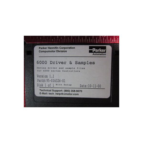 Parker 95-016324-01 Device Driver & Sample files for 6000 series Controllers
