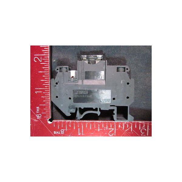 PHOENIX CONTACT 6-FSI/C Flat-type fuse terminal block ***HARVESTED; Never Instal