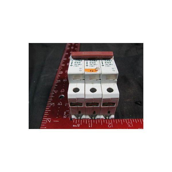 KLOCKNER-MOELLER FAZ-G10A-3POLE CIRCUIT BREAKER, 3 COMBINED FAZ-G10A BREAKERS