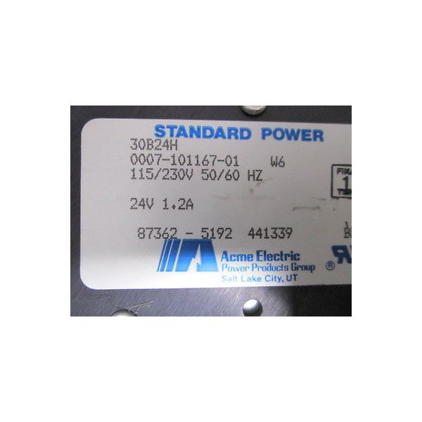 ACME ELECTRIC 30B24H Power Supply, Module,  115/230v 50/60 Hz, 24 volts 1.2-AMP,