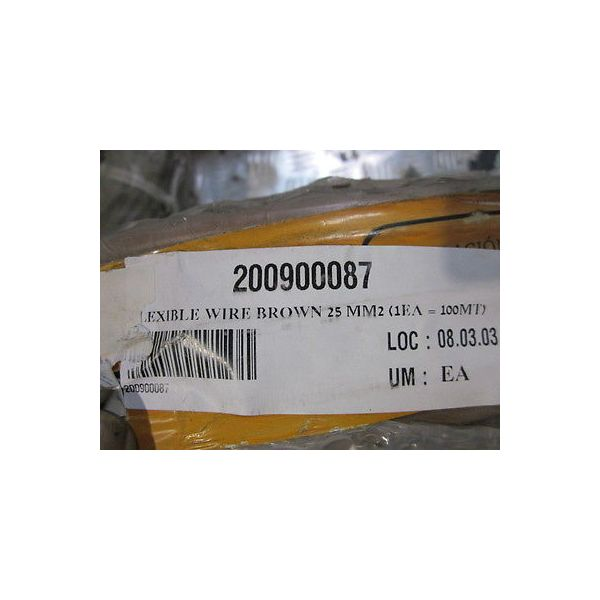 BICC GENERAL CABLE SK-300-679877-156 BROWN FLEXABLE WIRE 25MM2 100 MT