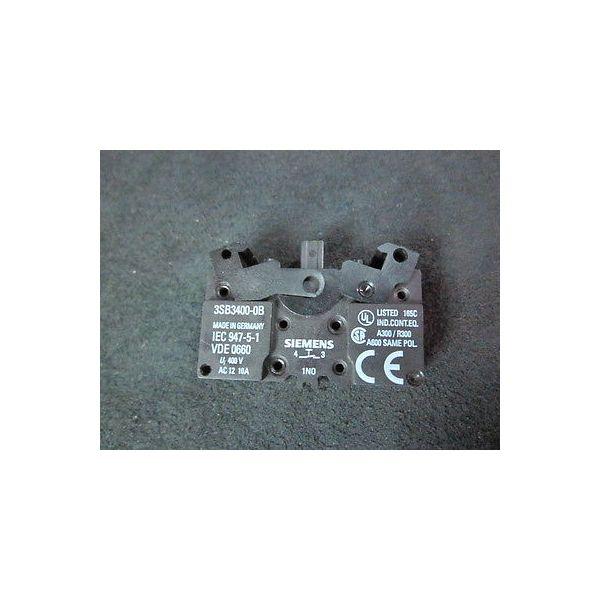 SIEMENS 3SB3400-0B Contact Block, Ui- 400V, AC 12, 10A