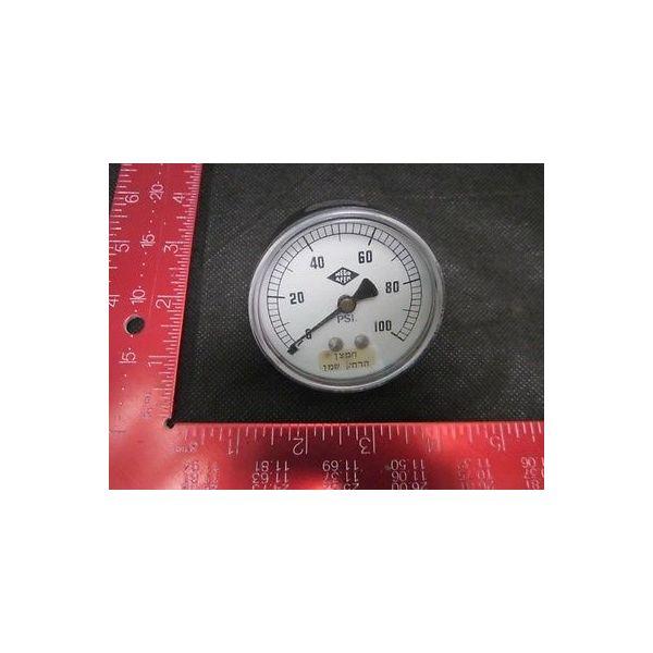 CAT 10600-100 Pressure Gauge, Brass Back Connector, Range: 0-100 PSI