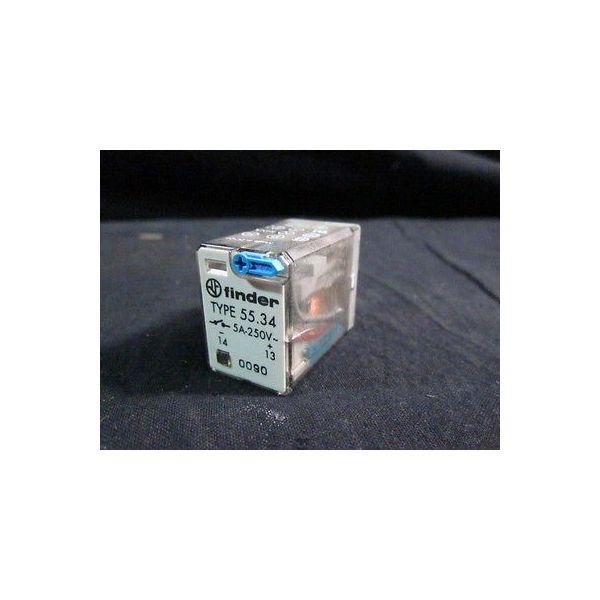 ONTRAK 44-0004-026 Relay 4PDT 24V 5A; Finder TYPE 55.34, 5A-250V