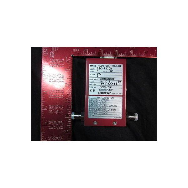 STEC SEC-7330MC-UC-302-300SCCM-AR Mass Flow Controller; Gas: Ar, Flow Rate: 300S