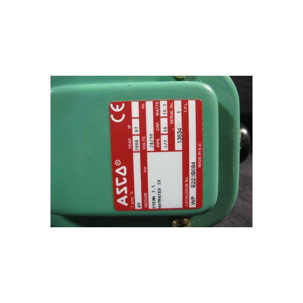 ASCO E222B094 2-WAY SOLENOID VALVE, 24V/50HZ, PIPE: 1/2, ORIFICE: 16, WATTS: 10.