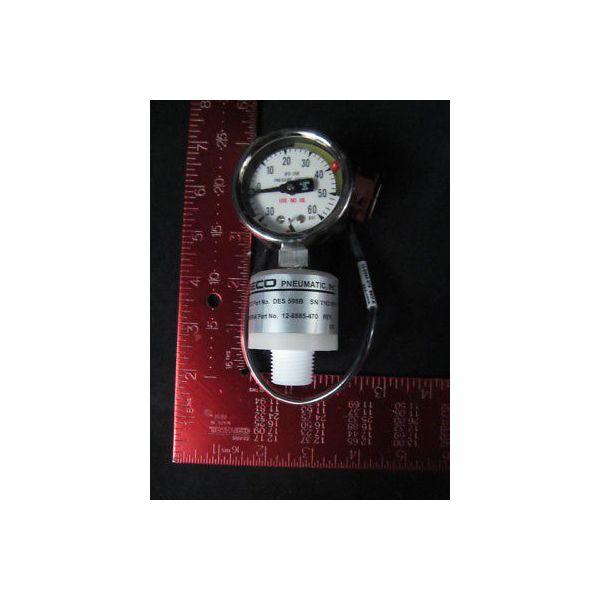 Net Mercury NM003-3564 Gauge 0-60PSI with Teflon Gauge Guard