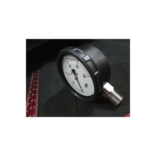 MEGO AFEK 501484052 GAUGE PRES.0-100 PSI 4  1/2 NPT SS GLYC