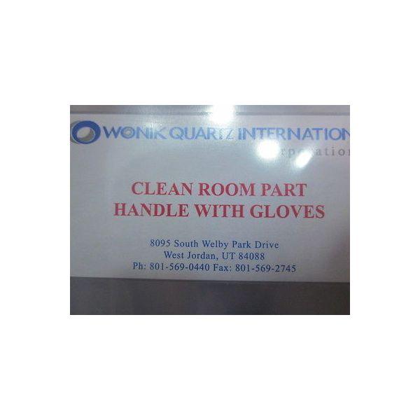 Wonik Quartz International 1005-08-039 Ring, WAP Twist Top Step Quartz