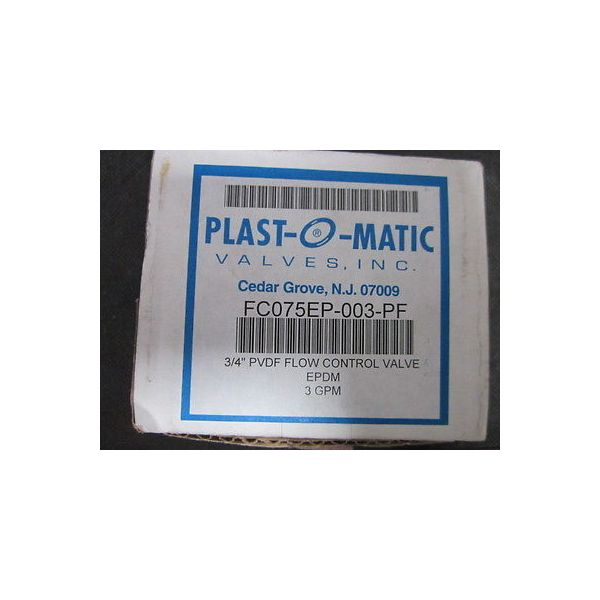 "PLAST-O-MATIC VALVES FC075EP-003-PF 3/4\"" PVDF Controller Valve PVDF 3GPM  FCO75V"