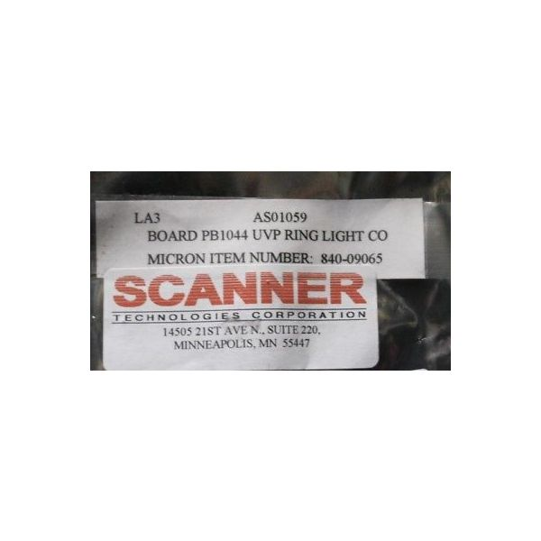 SCANNER AS01059 CONTROL, PB1044 UVP RING LIGHT