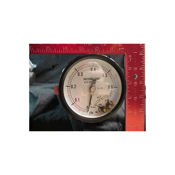 OSAKA 68542001 CL 1.6 PRESSURE GAUGE WITH MICRO SWITCH; 0-0.6MPa