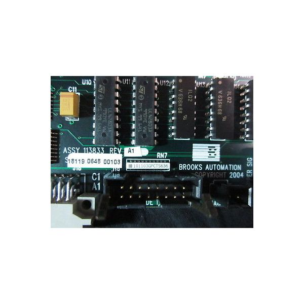 BROOKS AUTOMATION 113833 AY MACRO NODE INTF PCB IN RST ROBOT ARM